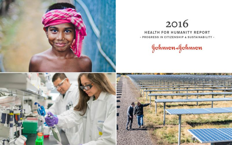 2016 Health for Humanity Report Johnson & Johnson, J&J citizenship and sustainability report, Matthew Hepburn, Perfect Sense, Brightspot
